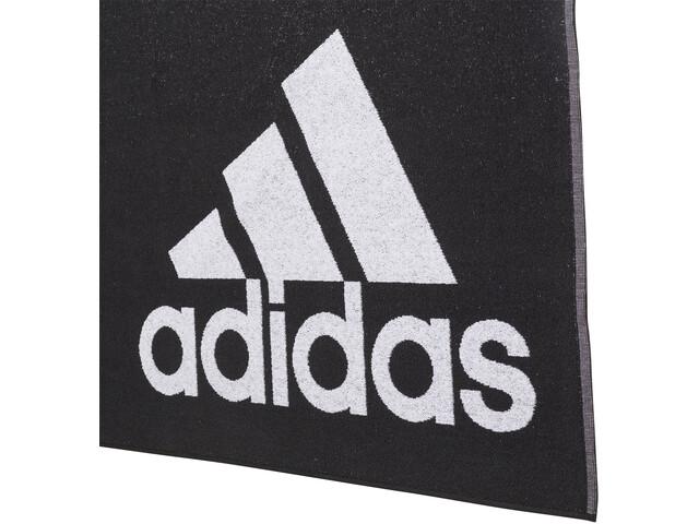 adidas Handdoek L, zwart/wit